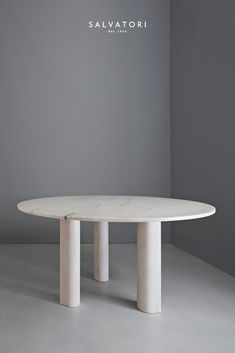 """Love me, Love me not"" Dining Table in Rosa Portogallo marble designed by Michael Anastassiades for Salvatori"