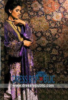 Cobalt Solid Zingaro, Product code: DR5134, by www.dressrepublic.com - Keywords: Pakistani Fashion Magazines Dresses 2011 Online Collection, Pakistani Fashion Magazines 2011