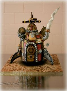 Steampunk Themed cake - For all your cake decorating supplies, please visit… Gorgeous Cakes, Amazing Cakes, Steampunk Kitchen, Gothic Cake, Cake Pictures, Cake Pics, Steampunk Design, Steampunk Wedding, Cake Decorating Supplies