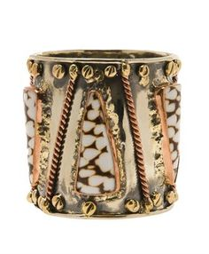 ANNDRA NEEN   Brass drum cuff with shells