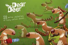 Dear deer bundle, vector by IvanNikulin on Creative Market