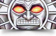 awesome mayan sun tattoo design Kinich Ahau