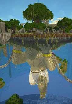 This is why people shouldn't think Minecraft is silly and stupid, because when it gets down to the core, it makes the most unimaginable things that blow our minds. This is Minecraft. Minecraft Bauwerke, Minecraft Kunst, Construction Minecraft, Minecraft Pictures, Amazing Minecraft, Minecraft Blueprints, Minecraft Designs, How To Play Minecraft, Minecraft Mansion