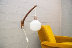 Wall Lamp by Uno & Östen Kristiansson for Luxus, for sale at Pamono Plug In Wall Sconce, Wall Sconces, Minimalist Mirrors, Appliques Murales Vintage, 1950s Design, Minimalist Scandinavian, Wood Detail, Glass Texture, Vintage Market