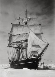 "The ""Terra Nova"" held up in the pack, 13 December 1910 (III), Herbert Ponting (1870-1935)"