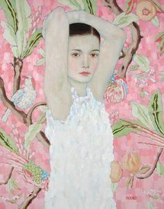 Lady with fan- Gustav Klimt
