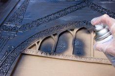 Harry Potter, Mirror of Erised, Tutorial, Harry Potter Craft, Make your own mirror of erised, Delicious Reads