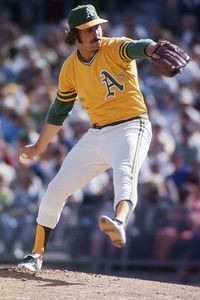 """Jim """"Catfish"""" Hunter  (1946–1999), is from Hertford, nc near Elizabeth City and the Outer Banks. He was a Major League Baseball pitcher, starting for the Oakland Athletics and New York Yankees in five World Series Championships during the 1970s. Also a member of the Baseball Hall of Fame."""