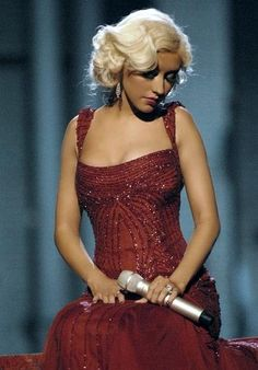 """Christina Aguilera. I loved her """"old Hollywood glam"""" phase. What a voice."""