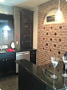 Wine storage in a #basement