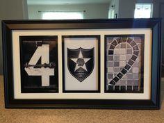 Army Military Unit Crest DUI Patch Welcome Farewell Gift - Custom Alphabet Numeric Photo Frame Art - https://www.facebook.com/handcraftedinamerica