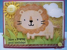 Little Scrap Pieces: Have a roaring good Birthday using Cricut Create A Critter.