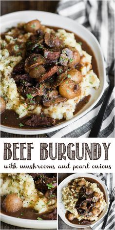 Beef Burgandy is an easy dinner recipe that can be made in the slow cooker, an Instant Pot, or on the stovetop. This red wine french stew is the best! More from my siteSlow Cooker Recipes Slow Cooker Beef, Slow Cooker Recipes, Beef Burgundy Slow Cooker, Beef Burgandy Crockpot, Beef Burgundy Recipe, Beef Burgundy Stew, Recipe With Red Wine, Sauce Pizza, Beef Recipes For Dinner
