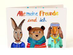 Bücher - *Freundebuch* - ein Designerstück von Frau-Ottilie bei DaWanda