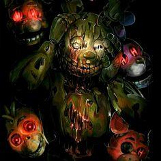 Springtrapve as alminhas Freddy S, Five Nights At Freddy's, William Afton, Fnaf Characters, Fnaf Drawings, Fnaf Sister Location, Scary, Creepy, Game Art