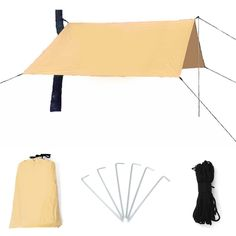9.8x13ft Lightweight Waterproof Rain Fly Hammock Tarp Cover Tent Rain Sun Shade Shelter Mat for Camping Outdoor Travel Picnic Beach - Walmart.com - Walmart.com Hammock Tarp, Tent Tarp, Sun Awnings, Rain Shelter, Tarp Shelters, Rain Fly, Beach Picnic, Sun Shade, Tent Camping