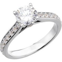 Platinum Accented Engagement Band: 1/3 CT TW Size: 13 - http://finejewelrygalleria.com/jewelry/platinum-accented-engagement-band-13-ct-tw-size-13-com/