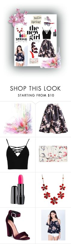 """""""spring"""" by kristina779 ❤ liked on Polyvore featuring Boohoo, Ivanka Trump, Lancôme and Call it SPRING"""