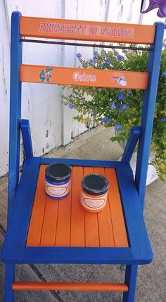 Dixie Belle Paint is the, Easy Peasy, chalk based, mineral paint......Cobalt Blue and Florida Orange...Go Gators!
