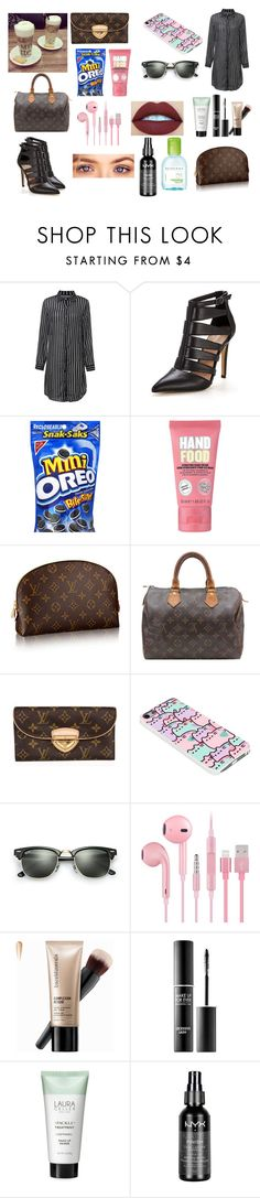 """hammer."" by motannaangel ❤ liked on Polyvore featuring Soap & Glory, Louis Vuitton, Pusheen, Ray-Ban, Bare Escentuals, MAKE UP FOR EVER, Laura Geller, xO Design, H2O+ and NYX"