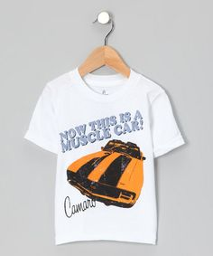 Take a look at this White 'Camaro Muscle Car' Tee - Toddler by Gumdrops on #zulily today!