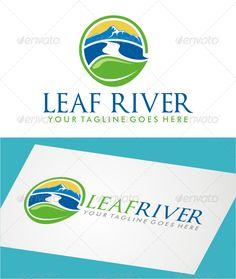 Leaf River - Logo Design Template Vector #logotype Download it here: http://graphicriver.net/item/leaf-river-logo/7830865?s_rank=657?ref=nesto
