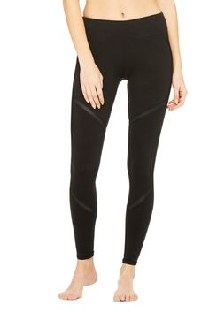 Talia Legging | Women's Bottoms at ALO Yoga - these are PERFECT - those little slivers of shiny!
