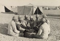80-OTTOMAN SOLDIERS, THE DAILY SOUP RATION, 1917