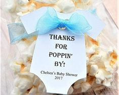 """Thanks For Poppin' By ~ TAG ONLY ~ Baby Onesie Gift Tags ~ Baby Shower Tags ~ 10 tags ~ 2 1/2"""" ~ Multiple Colors to Choose From #babyshowergifts"""