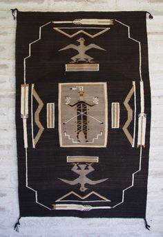 Antique Navajo Sandpainting Textile: c 1930's