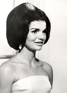 Jacqueline Kennedy wearing the Antique Sunburst Hair Ornament-Brooch (diamonds).