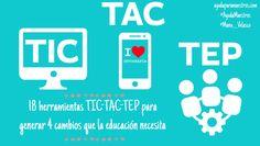 AYUDA PARA MAESTROS: 18 herramientas TIC-TAC-TEP para generar 4 cambios que la educación necesita