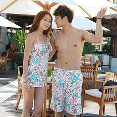 93553d1675e7a Buy  Tamtam Beach – Leaf Print Couple Beach Shorts  with Free International  Shipping at YesStyle.com. Browse and shop for thousands of Asian fashion  items ...