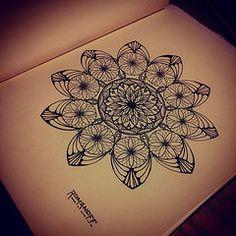 Big flower (La Romanoff) Tags: detail amazing artwork drawing mandala draw oriental linework zenart zendala laromanoff