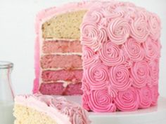 pink hues for cake decor flowers #sweet 16