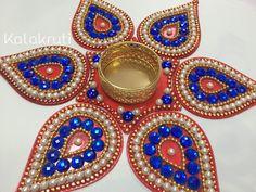 Diwali Acrylic Indian Rangoli with votive holder - Heart shape
