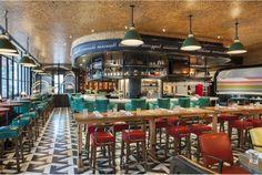 Drake One Fifty Restaurant by Martin Brudnizki Design Studio - The floor...