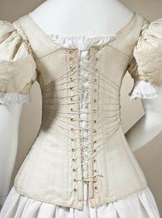 "1830s ""self-fastening"" corset"