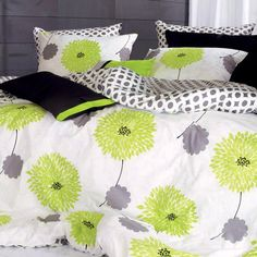 Green/Lavender duvet set.