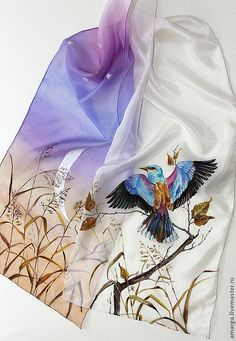 60 ideas painting fabric clothes silk scarves for can find Silk painting and more on our ideas painting fabric clothes silk scarves for 2019 Fabric Painting, Fabric Art, Silk Fabric, Paint Fabric, Hand Painted Dress, Hand Painted Fabric, Painted Silk, Fabric Paint Designs, Paintings Famous