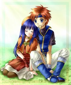 Fire Emblem: Fuuin no Tsurugi - Roy and Lilina