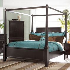 Ashley Furniture Rowley Creek King Poster Bed W Canopy By Ashley Black Canopy Bedroom Sets