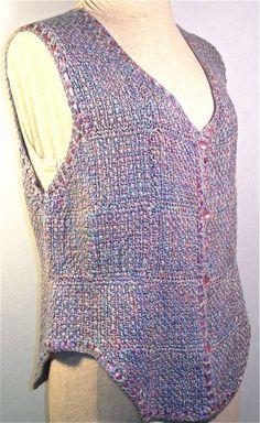 Pin Weaving, Loom Weaving, Knit Baby Sweaters, Sweaters For Women, Loom Knitting Projects, Sewing Projects, Inkle Loom, Peg Loom, Vest Pattern
