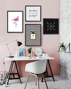 Nice and simple home decor: 44 simple desk workspace design ideas. Best Interior Design Websites, Office Interior Design, Interior Design Living Room, Kitchen Interior, Home Office Organization, Home Office Decor, Office Ideas, Office Decorations, Desk Office
