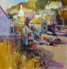 Cadgwith Shadows by British Contemporary Artist Chris FORSEY