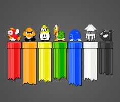 """Drainbow"" NES Nintendo Super Mario Brothers Art Print by chrisanimations @ society6"