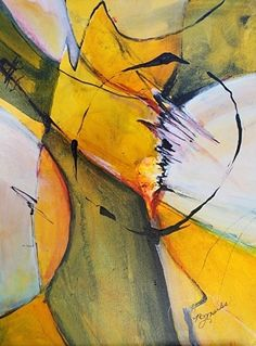 """Abstract Artists International: Abstract Painting,Contemporary Art """"Energy"""" by California Artist B. Marks"""