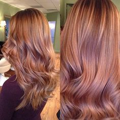 Image result for rose gold and brown hair color
