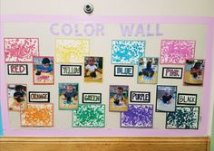Color wall: shapes and colors unit: infant classroom classroom walls, class Toddler Daycare Rooms, Infant Toddler Classroom, Toddler Teacher, Toddler Art, Infant Daycare Ideas, Daycare Crafts, Classroom Crafts, Toddler Classroom Decorations, Daycare Decorations