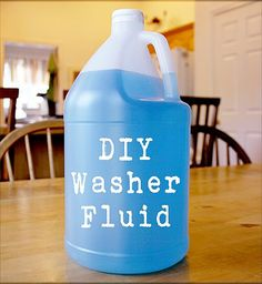 Learn how to make Homemade Windshield Washer Fluid with this DIY tutorial. Keeping your windshield clean is a must, and during the winter season, with all the snow and ice. Fight windshield grime with this homemade washer fluid. Homemade Cleaning Products, Cleaning Recipes, Natural Cleaning Products, Car Cleaning, Cleaning Hacks, Cleaning Supplies, Cleaning Checklist, Green Cleaning, Spring Cleaning